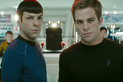 Captain Kirk and Mr Spock by Leslie Wong